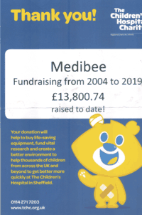 medibee fund raising for Sheffield Children's Hospital
