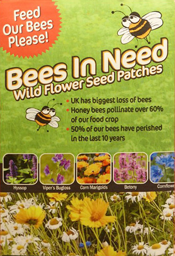 bees in need seed wild flower seed matts