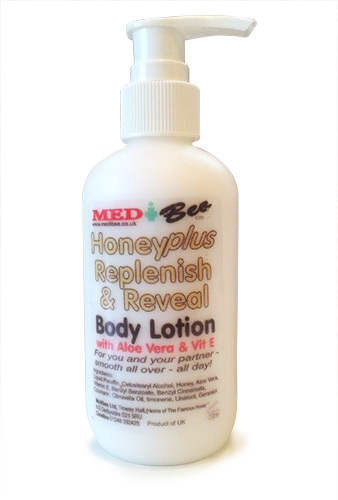 honey plus replenish and reveal body lotion