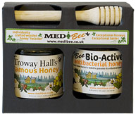 bioactive honey gift set with honey twizzler